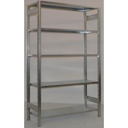 Scaffale metallico da magazzino zincato cm. 120x30x250h