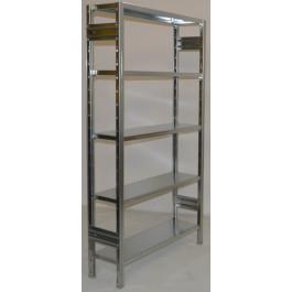 Scaffalatura metallica da magazzino zincata cm. 100x30x180h