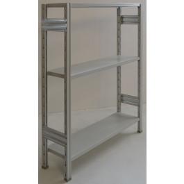 Scaffale metallico industriale scaffalatura metallica verniciata cm. 120x30x150h