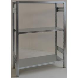 Scaffale in metallo zincato per magazzino cm. 120x40x150h