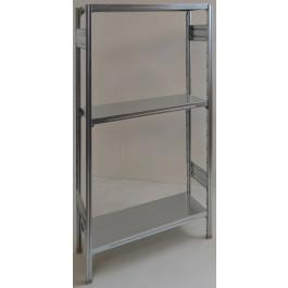 SCAFFALATURA in metallo per magazzino Zincata cm. 80x50x150h