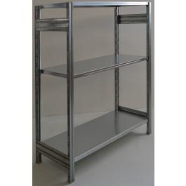 Scaffale in metallo industriale scaffalatura metallica cm. 120x50x150h