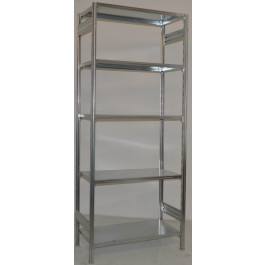 Scaffalatura metallica da magazzino Zincata cm. 100x50x242h