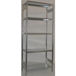 SCAFFALATURA metallica da magazzino Zincata cm. 120x60x242h