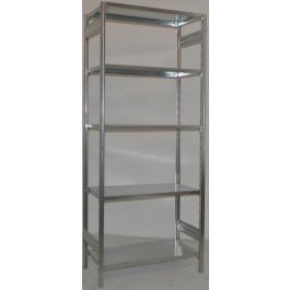 Scaffalatura metallica da magazzino Zincata cm. 100x40x250h