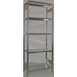 SCAFFALATURA in metallo da magazzino Zincata cm. 80x40x250h