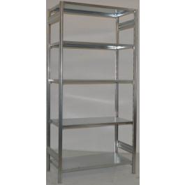 SCAFFALATURA metallica da magazzino Zincata cm. 91x60x242h