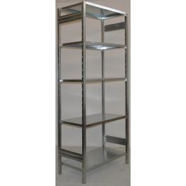 SCAFFALATURA in metallo da magazzino Zincata cm. 80x50x242h