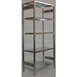 SCAFFALATURA metallica da magazzino Zincata cm. 80x70x242h
