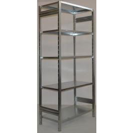 SCAFFALATURA metallica da magazzino Zincata cm. 91x50x242h