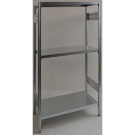 SCAFFALATURA metallica da magazzino Zincata cm. 80x60x150h