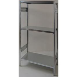 Scaffale in metallo zincato scaffale ad incastro cm. 80x70x150h
