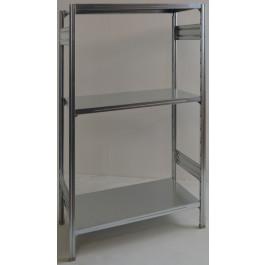 SCAFFALATURA metallica da magazzino Zincata cm. 91x60x150h