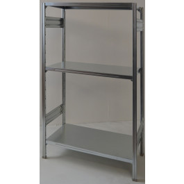 SCAFFALATURA metallica da magazzino Zincata cm. 91x80x150h