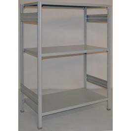 Scaffalatura a ripiani scaffalatura ad incastro cm. 100x60x150h