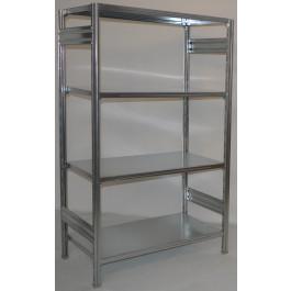 Scaffalatura a ripiani scaffalatura ad incastro cm. 120x50x180h