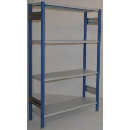 Scaffalatura metallica da magazzino verniciata cm. 120x30x180h