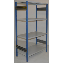 Scaffalatura da magazzino Verniciata cm. 100x50x200h