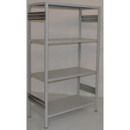 Scaffalatura metallica da magazzino verniciata scaffale metallico verniciato cm. 100x40x200h