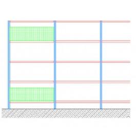 Fascia di controventatura a schiena per piano di cm. 80x30h