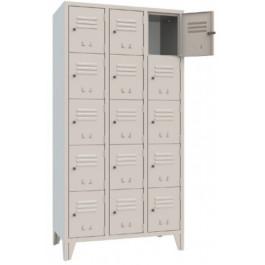 Casellario monoblocco armadio metallico a 15 vani cm. 90,7x50x180h