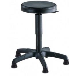 Sgabello ergonomico con piedini fissi e sedile in poliuretano con elevazione a gas cm. 32x60x44/56h