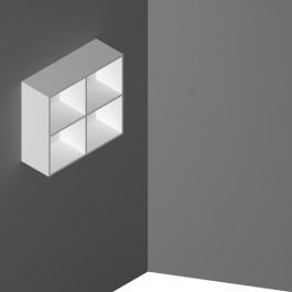 Pensile a muro mensola a muro con 4 vani a giorno cm. 90X33X83,2H