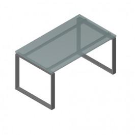 Tavolo scrivania in legno e metallo per ufficio direzionale cm. 100x60x72h