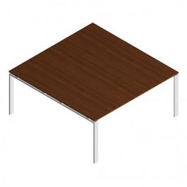 """Tavolo riunione OFFICE con gamba a """"U"""" in metallo SINGOLO CM 160X164X72H"""
