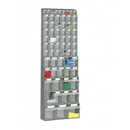 Scaffale in polipropilene con cassetti trasparenti cm. 60x22,4x175h