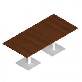 Tavolo riunione OFFICE con base in metallo rettangolare CM 210/240X100X72H