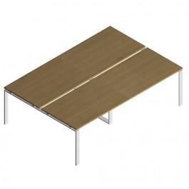 """Tavolo riunione OFFICE con piani contrapposti e gamba a """"U"""" in metallo CM 240/280/320/360 X164X72H"""
