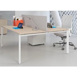 Composizione scrivanie da 2 persone per ufficio cm. 140/160/180/200x165x74h