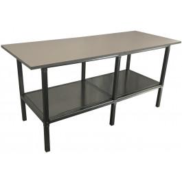 Banco per lavoro da officina e magazzino in metallo e piano di legno cm. 240x100x93h