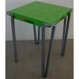 Tavolo metallico Verniciato blu per casa cm. 60x60x75h