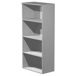 Mobile libreria alta a giorno colore grigio alluminio