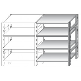 Additional module for stainless steel shelving
