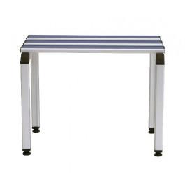 Panca colorata per spogliatoio in alluminio anodizzato a tre posti di cm. 100x41x46h