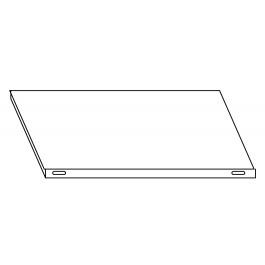 Piano aggiuntivo LISCIO per scaffalatura in acciaio inox a ganci cm. 90x40