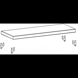 Piano zincato aggiuntivo cm. 80x50 da magazzino
