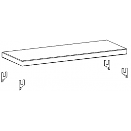 Piano zincato aggiuntivo cm. 91x40 da magazzino