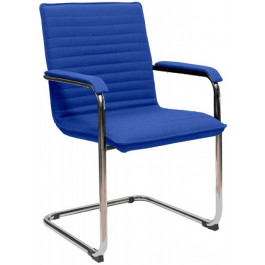 Sedia visitatore per sala d'attesa con struttura in acciaio