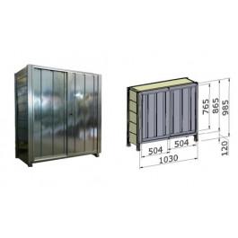 Porta scorrevole in lamiera zincata per fronte scaffalatura cm. 100x100,5h