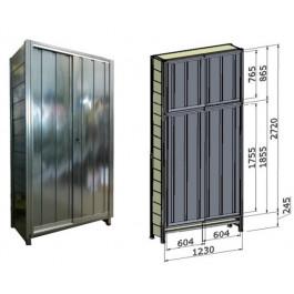 Porta scorrevole in lamiera zincata per fronte scaffalatura cm. 120x285h