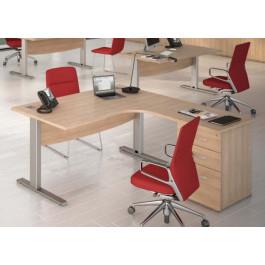 Scrivania in legno ufficio arredo economico castellani shop for Arredamento ufficio economico