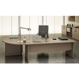 Postazione lavoro con scrivanie e cassettiera per ufficio operativo cm. 260x160x73h