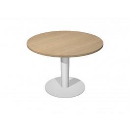 Tavolo per riunioni con base in metallo e piano in melaminico