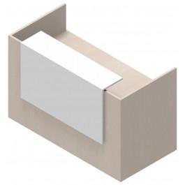 Reception in legno verniciato per ufficio esecutivo cm. 160x82,5x105