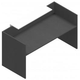Reception lineare in melaminico verniciato per ufficio cm. 180x82,5x105h