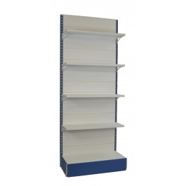 Scaffalatura da negozio in metallo con piani con mensole regolabili in altezza cm. 97x40x250h